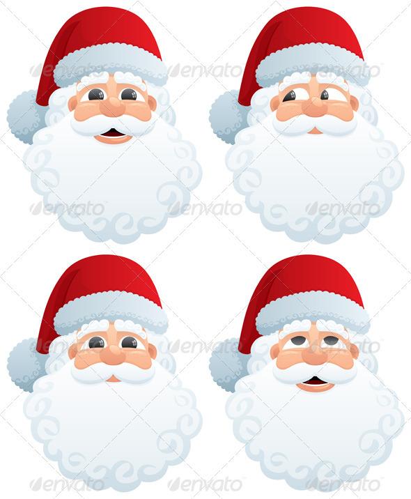 Santa's Head - Characters Vectors