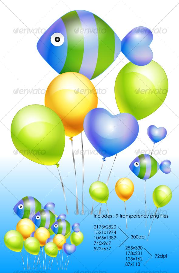 Fish Balloon - Miscellaneous Vectors