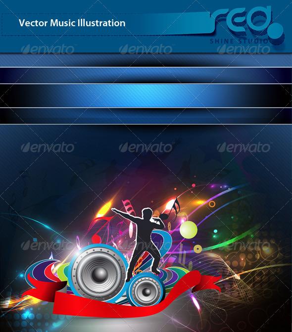 Dance Party Vector Template Design_4 - Decorative Vectors