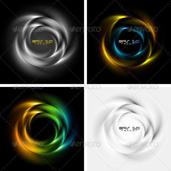Vector logo. Abstract glossy rings - Decorative Symbols Decorative