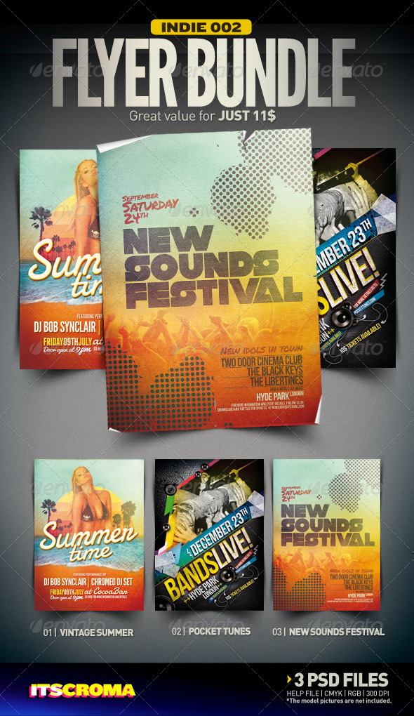Indie Flyer Bundle | 002 - Clubs & Parties Events