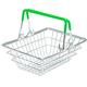 Metal shopping basket on white background isolate - PhotoDune Item for Sale