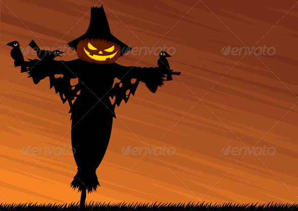 Scarecrow Background - Backgrounds Decorative