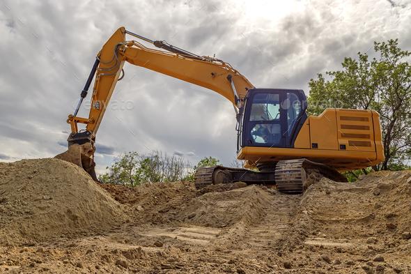 Big excavator - Stock Photo - Images