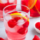 Raspberry lemon iced cold drink. - PhotoDune Item for Sale