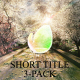 3 Short Titles Pack - VideoHive Item for Sale