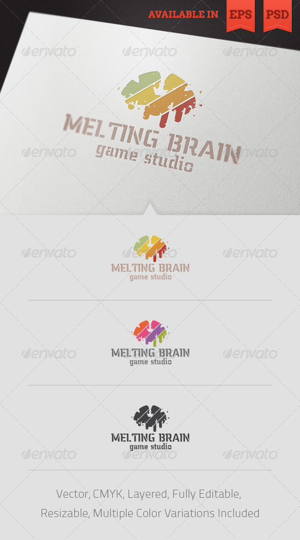 Melting Brain Logo Template - Abstract Logo Templates