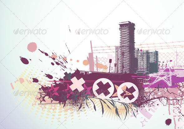 Urban background - Decorative Vectors