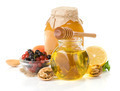 glass jar full of honey, lemon and berry - PhotoDune Item for Sale