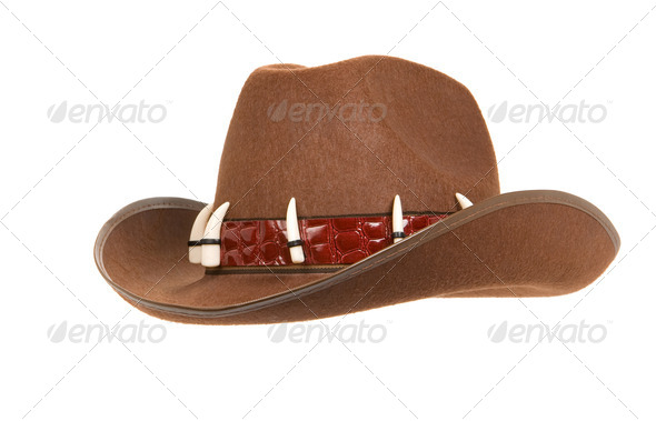 cowboy hat isolated on white - Stock Photo - Images
