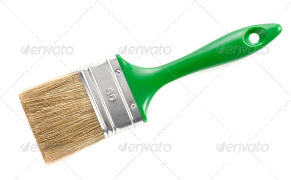 paintbrush isolated on white - Stock Photo - Images