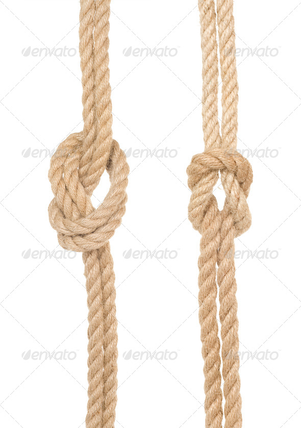 ship ropes isolated on white - Stock Photo - Images