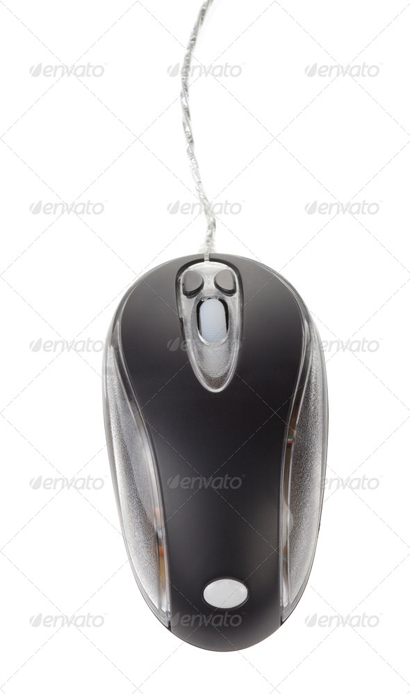 computer mouse isolated on white - Stock Photo - Images