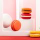 Cake macaron or macaroon on beige background - PhotoDune Item for Sale