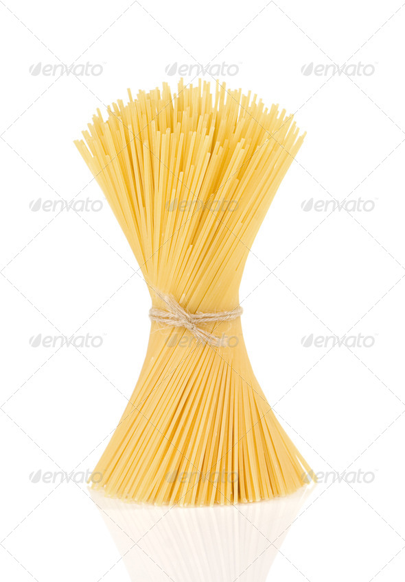 pasta spaghetti isolated on white - Stock Photo - Images