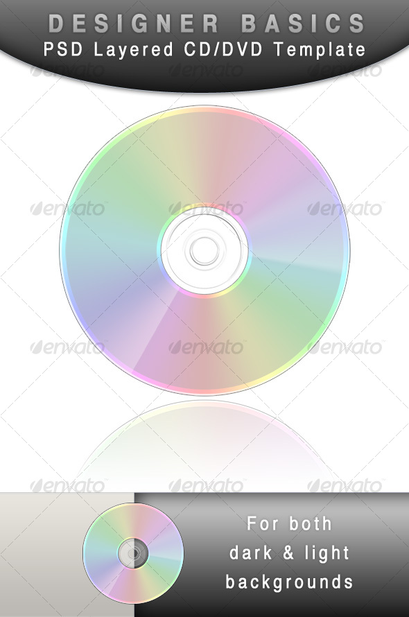 CD - DVD template (Designer Basic) - Discs Packaging