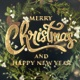 Merry Christmas Glittery Text Animation - VideoHive Item for Sale
