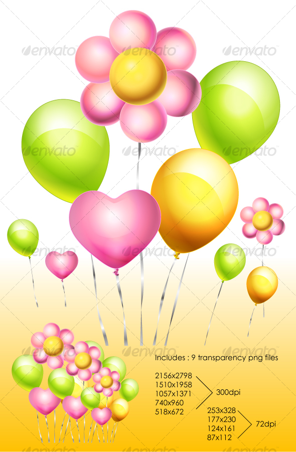 Flower Balloon - Birthdays Seasons/Holidays