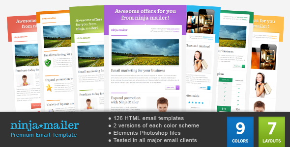 Ninja mailer premium email template by gifky themeforest ninja mailer premium email template email templates marketing wajeb Images