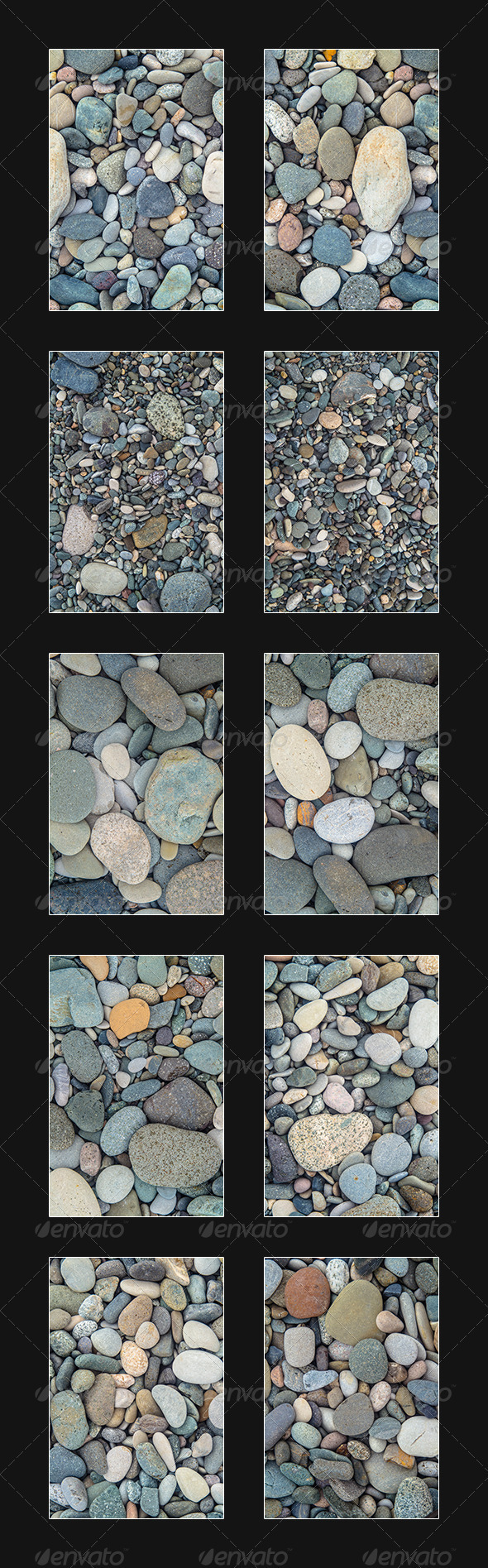 Pack Of Small Stones, 10 Textures, Pack 2 - Stone Textures