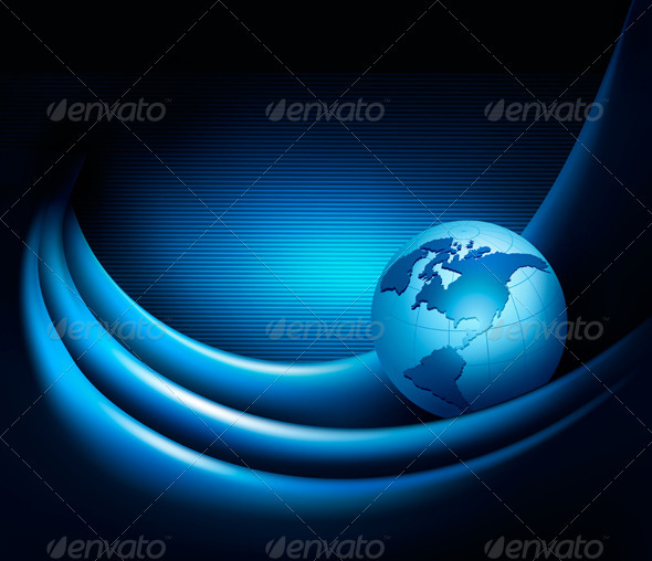 Business elegant abstract background with globe   - Backgrounds Business