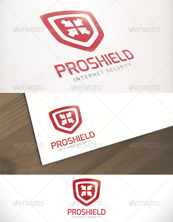 Pro Shield Internet Security Logo Template - Symbols Logo Templates