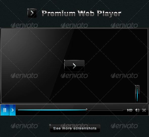 Premium Web Player - User Interfaces Web Elements