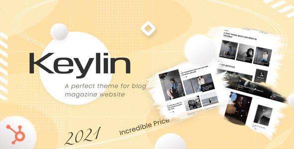 Keylin - Magazine and Blog HubSpot Theme