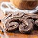Sweet pastry palmeritas with chocolate icing. - PhotoDune Item for Sale