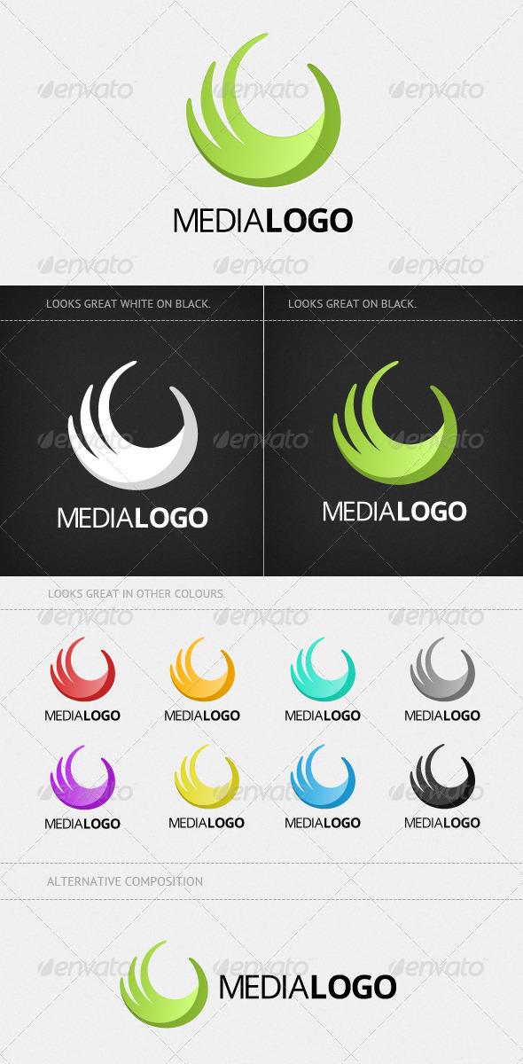 Modern Media Logo - Vector Abstract