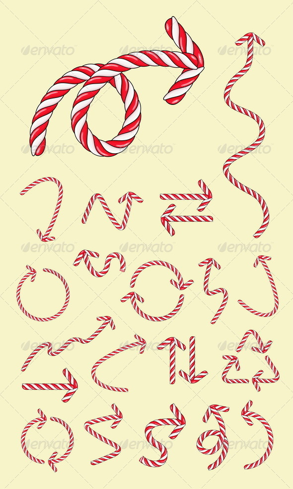 20 Arrow Candy Vectors - Decorative Symbols Decorative