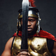 Roman soldier holding sword near his face - PhotoDune Item for Sale