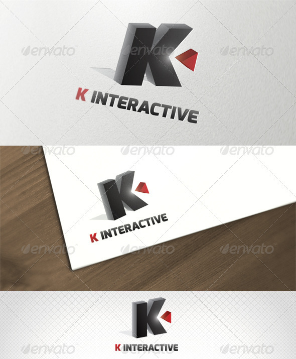 K Interactive Logo Template - Letters Logo Templates