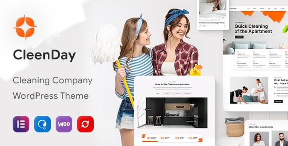 Fabulous CleenDay - Cleaning Company WordPress Theme
