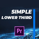 Simple and Modern Lower Third - VideoHive Item for Sale