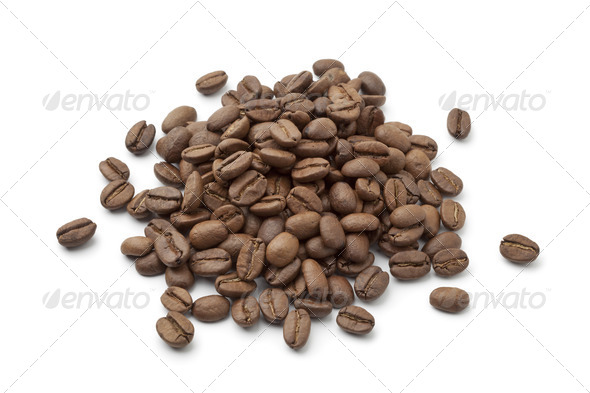 Heap of Coffee beans - Stock Photo - Images