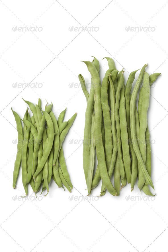Two kinds of fresh  green beans - Stock Photo - Images