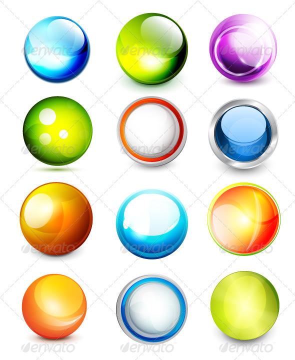 Shiny Aqua Bubbles - Decorative Symbols Decorative