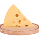 piece of cheese on board isolated on a white background - PhotoDune Item for Sale