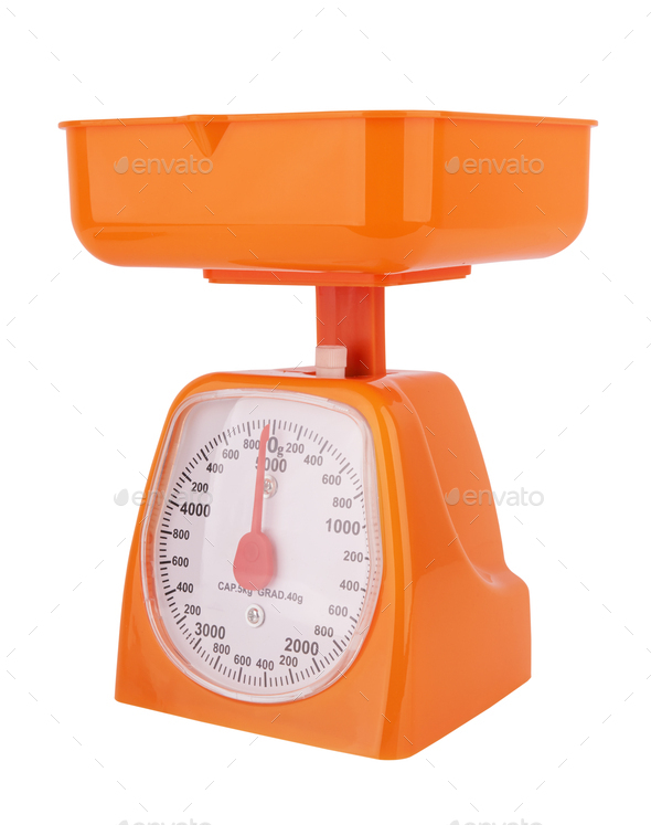 Portable mechanical scale isolated on a white background - Stock Photo - Images
