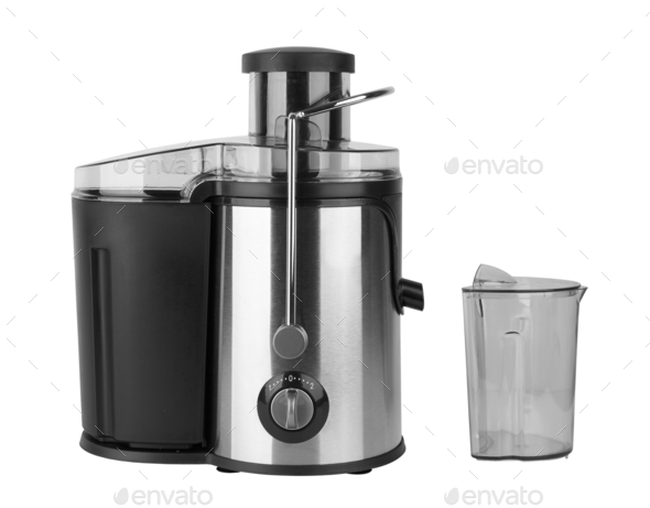 Electric juicer isolated on a white background - Stock Photo - Images