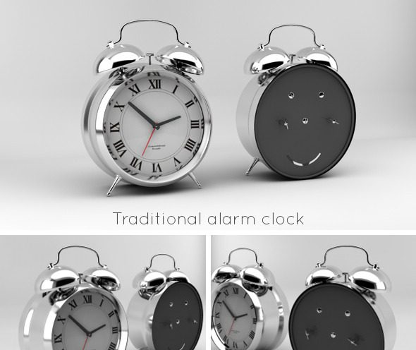 Traditional alarm clock - 3DOcean Item for Sale