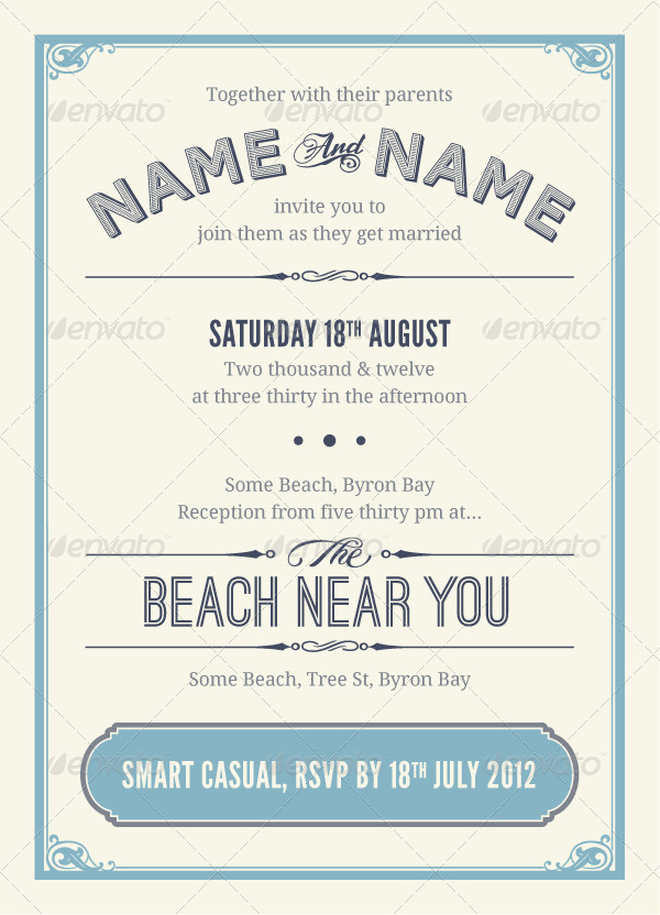 Vintage Wedding Invitation & RSVP by PhilEvans | GraphicRiver