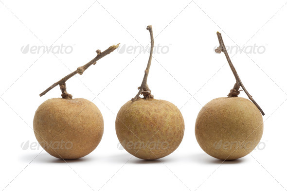 Whole longan fruit with stems - Stock Photo - Images