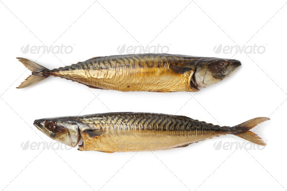 Whole steamed mackerel fishes - Stock Photo - Images