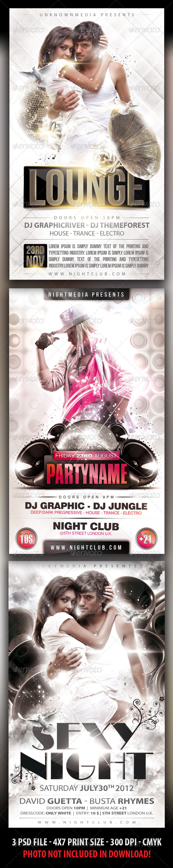 Party Flyer Bundle - Clubs & Parties Events