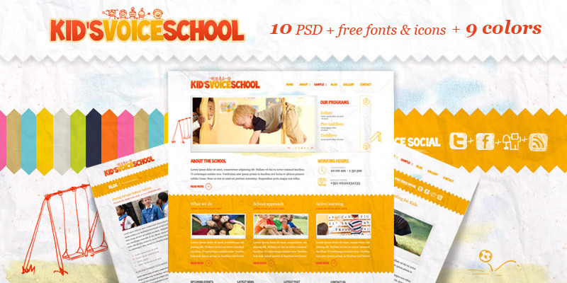 Free Download Kids Voice School Nulled Latest Version