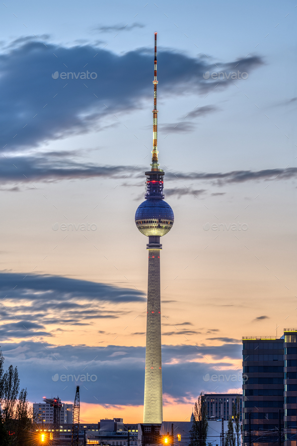 The famous TV Tower in Berlin - Stock Photo - Images