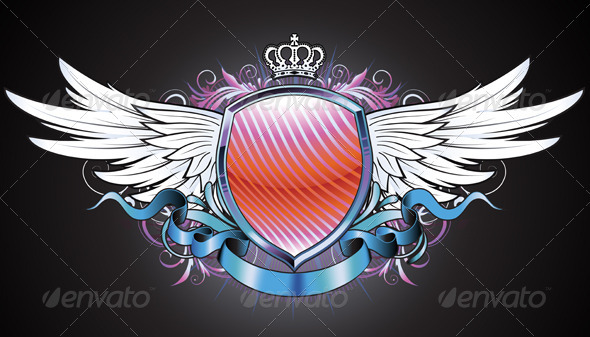 Heraldic badge  - Decorative Vectors