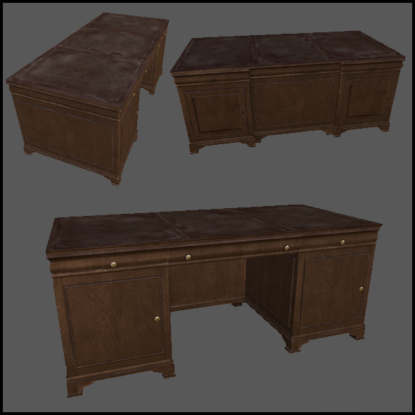 Classic Desk - 3DOcean Item for Sale